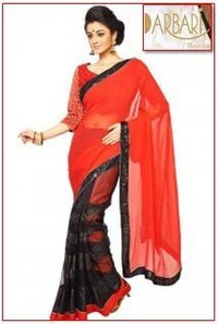 Designer Georgette Saree With Heavy Sequin Borders