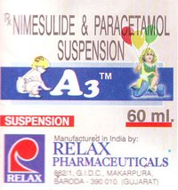 A3 Nimesulide and Paracetamol 60ml. Syrup