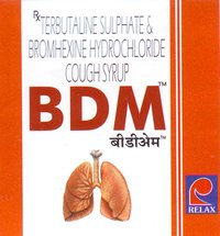 BDM Terbutaline Sulphate and Bromhexine Hydrochloride Cough Syrup