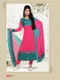 Pink Designer Anarkali Suit