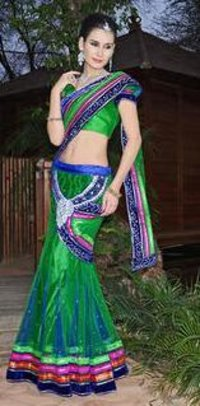 Short Pallu Saree
