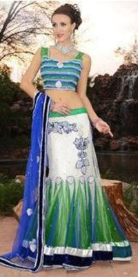 Net Indo Western Dress Short Pallu Saree