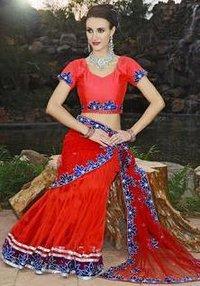 Attractive Net Fabric Kali Frock Saree