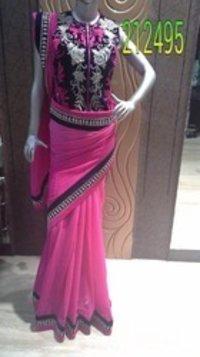 Heavy Blouse Fancy Saree