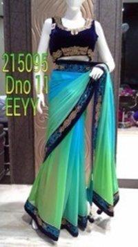Heavy Blouse Stylish Saree