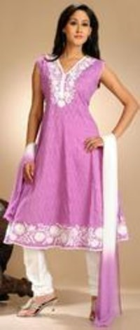Ladies Pink Cotton Suit