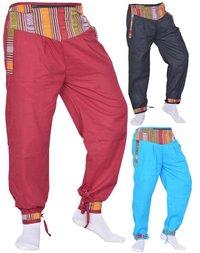 Cotton Money Belt Baggy Pants