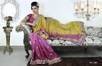 Pink Tissue Butte Saree