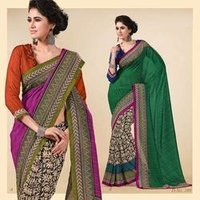 Velvet Net Saree