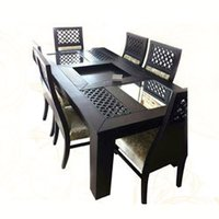 Rubber Wood Dining Table Set