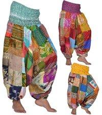 Vintage Silk Harem Pants