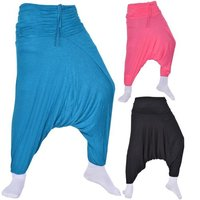 Cotton Jersey Harem Trousers