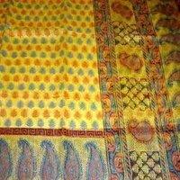 Yellow Border Saree