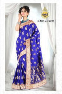 Banarasi Blue Sarees