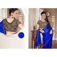 Ladies Royal Blue Sarees