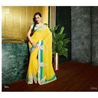 Yellow Ladies Sarees