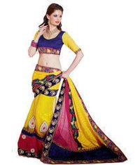 Breathtaking Applique Butta And Embroidery Work Yellow Saree
