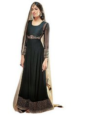 Black Designer Anarkali Dress