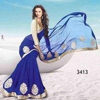 Dark Blue Saree