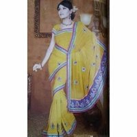 Traditional Indian Yellow Saree