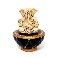 Ganesha On Marble Tabla