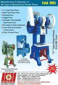 H Frame Power Press Machine (5 Tones-150 Tones)