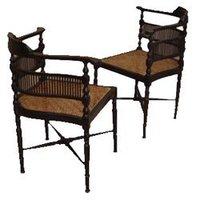 Wooden Corner Chair