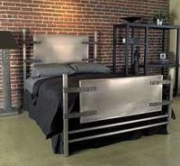Attractive Stainless Steel Bed