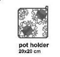 Black And White Xmas Pot Holder
