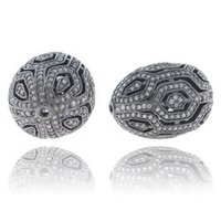 Designer Handmade Pave Diamond Bead Finding