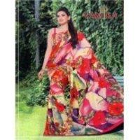 Digital Print Floral Saree