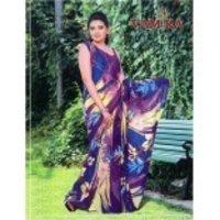 Designer Digital Print Saree