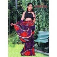 Alluring Floral Print Saree