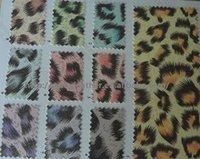 Leopard Pattern Glitter PU Leather