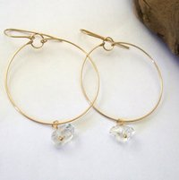 Beautiful Herkimer Diamond hanging Earring