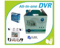 H.264 DVR Combo Kit Camera Home Surveillance 7 Inch For 4 Channel