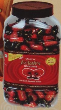 Eclairs Chocolate Candy Jar