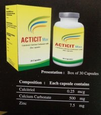 Acticit Max Calcitriol, Calcium Carbonate With Zinc Capsule