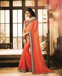 Chiffon Sarees In Double Shades