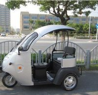 Open Electric Tricycle Similar To German Taxi For Passenger