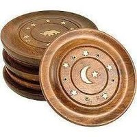 Round Wooden Incense Holders