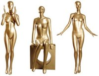 Gold Painted Full Body Mannequins