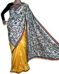 Nakshi Kantha Work Saree