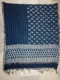Hand Block Printed Chanderi Fabric Duppata