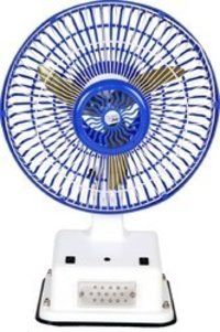 Solar Rechargeable Fan With LED Light