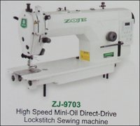 High Speed Mini-Oil Direct-Drive Lockstitch Sewing Machine (ZJ-9703)