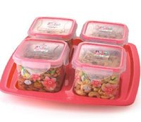 Serve Fresh 4 Side Lock Plastic Containers (Big)