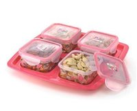 Set Of 1 Tray And 4 Air Tight Containers (Small)