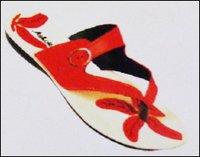 Red Ladies PU Slipper (2205)