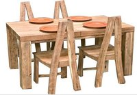 Designer Wooden Dining Table and Chairs (NK-3193)